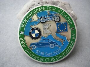 Vintage German International Tour D europe 1993 Bmw Veteranen Club Car Badge