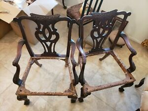 Two Vintage Authentic Chippendale Chairs