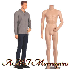 Male Mannequin 6ft Removable Head And Arms Skin Tone Full Body Manikin ym8 f