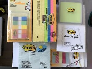 New Post it Notes Bundle 3 x3 flags doodle Pad color Cube 1 3 8 x1