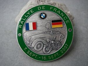 Vintage German Bmw Rallye De France 2007 Bmw Veteranen Club Car Motorccle Badge
