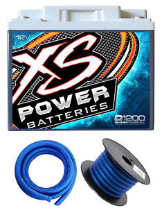 Xs Power D1200 2600 Amp Power Cell Car Audio Battery Hardware Power Ground Wires