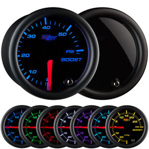 Glowshift 52mm Tinted Diesel Truck Boost 60 Psi Gauge W 7 Led Colors