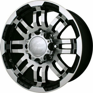 Set 4 17 Vision Warrior 8 Lug Chevy Truck Wheels Rim Black Machined Gmc 2500