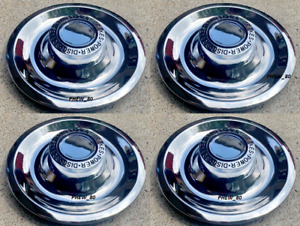 4 Chevy Gm Disc Brake Rally Wheel Center Hub Caps Rim 5 Lug Nut Cover