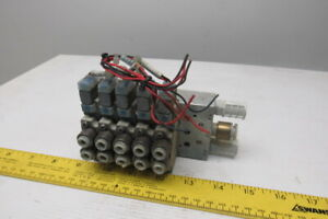 Smc Sy5120 5gz c5 4 2 Position Solenoid Operated Air Valve Bank Manifold 24vdc