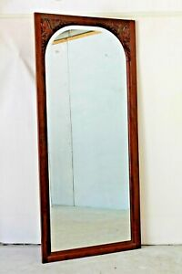 French Art Deco Tall Large Standing Wall Mirror As Is Bevelled