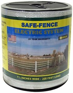 Powerfields K 3 Safe fence Electric Fence Poly Tape 200 feet Roll 1 5 inch