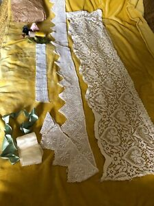 Job Lot Of Vintage Ribbon And Lace