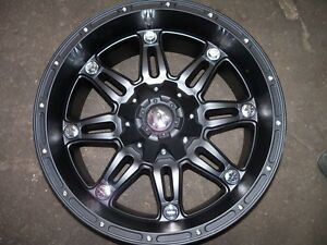 Fuel Offroad Black 20x10 Chevy Jeep Dodge Ford