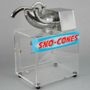 Free 1 Gallon Case Syrup Commercial Snow Cone Maker Shaved Ice Machine Electric