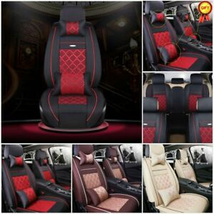 Us Car Pu Leather Seat Cover Protector Accesories 5 Seats Suv Protective Cushion