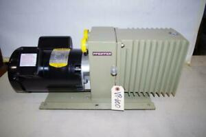 Pfeiffer Du0 012a Vacuum Pump 3 4hp Baldor Motor 115 208 230vac 1ph Vp600