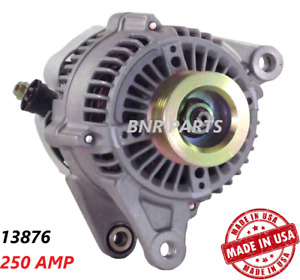 250 Amp 13876 Alternator Jeep Wrangler Tj 01 06 High Output Performance Hd New