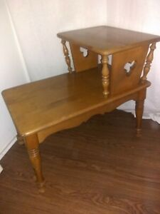 Ethan Allen Vintage Side Table Mickey Early American Solid Maple