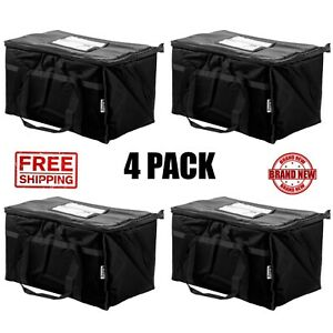 4pack Insulated Black Catering Delivery Chafing Dishfoodfull Pan Carrier Bag Cps