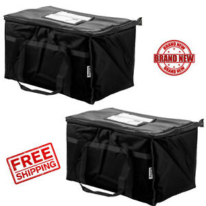 2pack Insulated Black Catering Delivery Chafing Dishfoodfull Pan Carrier Bag Cps