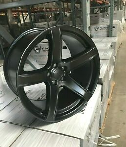 20 Staggered Hellcat 5 Hc2 Srt Style Satin Black Challenger Charger Wheels Rims