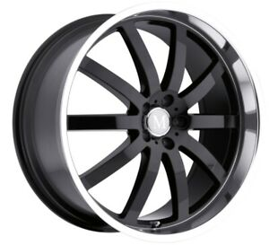 20x8 5 Mandrus Wilhelm 5x112 Rims 25 Black Wheels Set Of 4