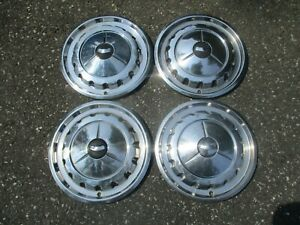 1957 Chevy Bel Air Nomad 14 Inch Hubcaps Wheel Covers Beaters