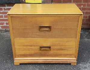 1950s Blonde Mahogany Red Lion Table Co Mid Century Modern 4 Drawer Chest