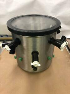 Lyophilizer Stainless Steel Drying Chamber With Lid And Silicon Valves 1 2inch