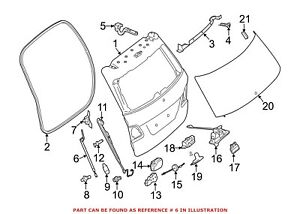 For Mercedes Genuine Tailgate Pull Down Motor Right 1668900000