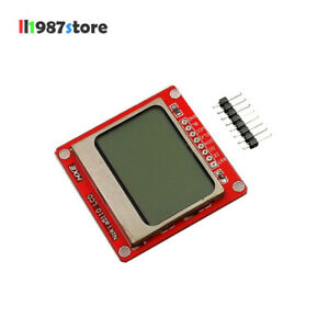 1pcs 84x48 Nokia 5110 Lcd 84 48 Module With Blue Backlight Adapter Pcb