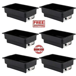 6 Pack Electric Fuel Chafer Chafingdish Steamfull Foodwater Pan Table Warmer Cps