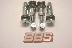 4 Real Bbs 11mm opening Metal Valve Stems Bbs Logo Caps 56 15 013