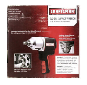 Craftsman 875 168820 Pneumatic Impact Wrench 1 2 13mm