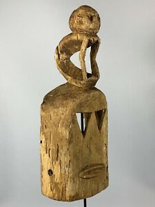190508 Large Old Tribal Used African Dogon Mask Mali