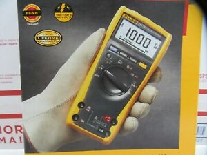 Fluke 177 True Rms Digital Multimeter With Backlight New Free Shipping