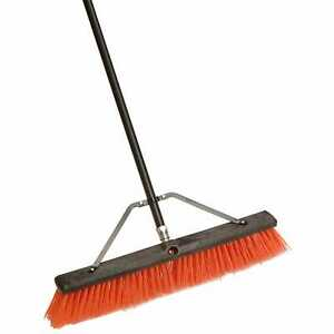 Laitner Brush Company 260a 24 Assembled Indoor Outdoor Push Broom W 60 Metal