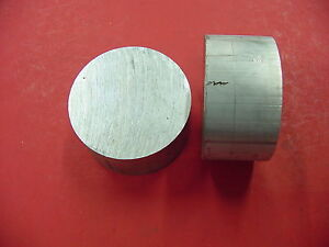 2 Pieces 3 3 4 Aluminum 6061 Round Rod 2 5 Long T6511 Solid Lathe Bar Stock