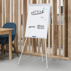24 x 36 Easel Tripod Magnetic White Board Flipchart Dry Erase Height Adjustable
