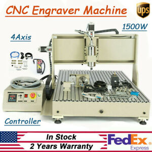 Cnc6090 Diy Router Kit Laser Engraving Milling Machine 110v Control 4 Axis sb