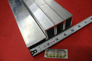 4 Pieces 1 x 2 x 1 8 Wall Aluminum Rectangle Tube 48 Long 1 0 x 2 0 6063 T52