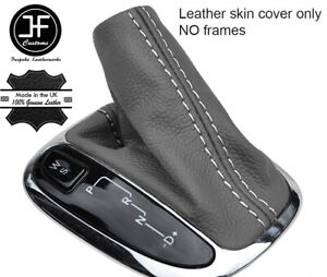 White Stitch Grey Leather Automatic Shift Boot For Mercedes C Class W203 00 06