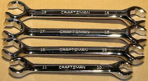 Craftsman 4pc Piece Mm Metric Line Flare Polished Flair Nut Wrench Set 10 18mm