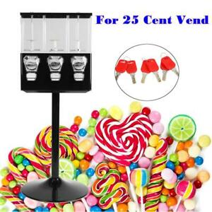 3 Head Bulk Candy Vending Machine Coin Mechanisms Bulk Vendor Triple Dispenser