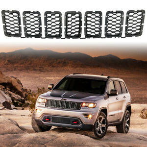 Matte Black Front Honeycomb Grille Inserts For Jeep Grand Cherokee 2017 2020