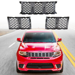 Black Mesh Honeycomb Grill Inserts For 2017 2019 Grand Cherokee Srt Trackhawk