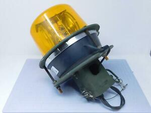 North American Signal 12420230 Large Amber Rotating Beacon Light 12 V T138595