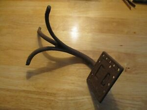 Original Antique Primitive Western Horse Buggy Carriage Square Bolt On Iron Step