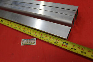 4 Pieces 3 4 x 1 1 2 x 1 8 Wall Aluminum Rectangle Tube 48 Long 6063 T52