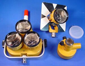 Topcon Triple Prisms Tilting Single Prism Tribrach Adapter