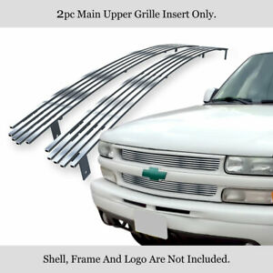Fits 1999 2002 Chevy Silverado 1500 00 06 Suburban tahoe Stainless Billet Grille