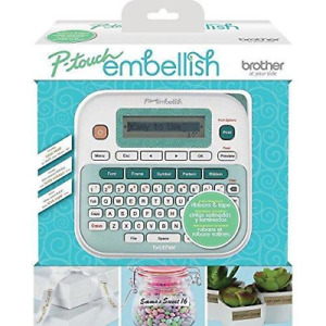 brother P touch Embellish Ribbon Tape Label Printer Machine Ptd215e Brand New