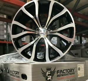 22 Ford Expedition Platinum Style Machine Black Wheels Rims Fits F 150 04 19